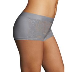 Maidenform Women's Smooth Luxe Morning Fog NylonCotton Boy-short Panty