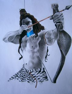 This is a pencil art done by me of Lord Shiva on A3 size cartridge paper.