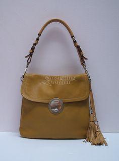 prada saffiano leather messenger bag - Milly black leather drawstring bucket bag, bamboo handle & tassel ...