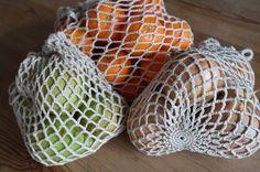In plaats van plastic zakjes en tasjes DMMU: Gratis haakpatroon: Boodschappen-netje!
