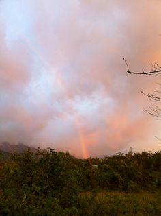 菰野地区 虹 炎が立ち昇っているように見えます
