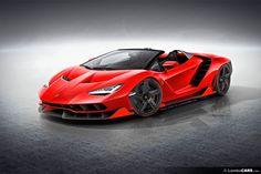 Lamborghini   Centenario   roadster   red