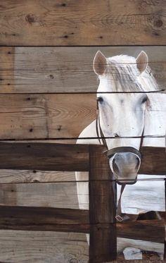 Alicia Doerksen, Art of a Country Girl, Pallet art  Horse