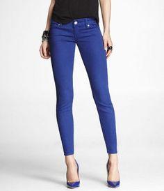 Danielle: ZELDA COLORED JEAN LEGGING-ROYAL BLUE at Express #ExpressJeans