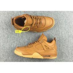 pretty nice edd82 d3992 mens air jordan 4 premium ginger wheat gum yellow retro basketball shoes  paypal Shoes Uk,
