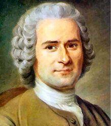"""Jean-Jacques Rousseau : """" L'uomo è nato libero e dappertutto è in catene. """" Il contratto sociale."""