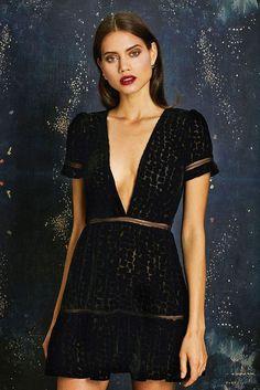Stone Cold Fox: Virgo dress in black velvet | Soleil Blue