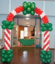 Výsledek obrázku pro decoracion de navidad con globos
