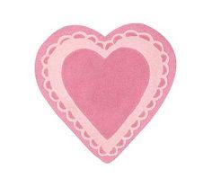 Heart Shaped Rug #pbkids $49
