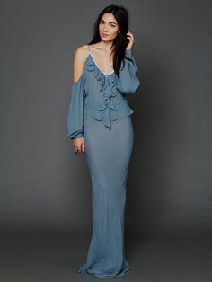 Free People Temptress Cold Shoulder Maxi, $608.00; Gorgeous. Too bad I could never actually justify spending so much on it.