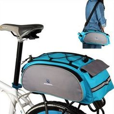 IT MALL New Arrival Bike Bicycle Rack Bag Seat Cargo Bag Rear Pack Trunk Pannier Handbag Multifunctional Bag Blue -- More info could be found at the image url. (This is an affiliate link) Bicycle Rear Rack, Bicycle Bag, Mountain Bike Backpack, Folding Exercise Bike, Bike Panniers, Pocket Bike, Cargo Bike, Bike Accessories, Rear Seat