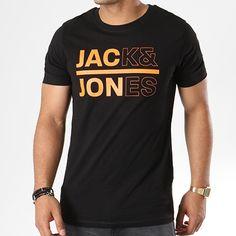 Jack And Jones - Tee Shirt Cool Noir - LaBoutiqueOfficielle.com Mens Boots Fashion, Mens Joggers, Mens Tee Shirts, Jack Jones, Saree Collection, Ripped Jeans, Neck T Shirt, Street Wear, Cool Stuff