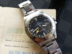 Rolex Explorer II ref. 1655 'Freccione' a.k.a Steve McQueen from 1972. MK I Frog Foot dial with MK I bezel and straight seconds hand. http://www.watchcollectinglifestyle.com/home/rare-bird-rolex-explorer-ii-ref-1655-freccione-aka-steve-mcqueen