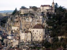 The city built into rocks - Rocamadour, France