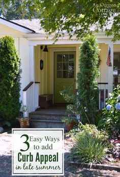 Easy, DIY ways to add curb appeal to your house in late summer in just a few hours! It's a great way to beat the mid-summer garden 'slump' and get ready for those fun fall decorations!