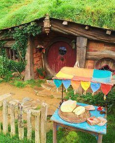 Who wants to buy some #cheese ? #hobbit made cheese in #Hobbiton #newzealand #matamata #travel #hobbithole  はい、#ホビット が作った#チーズ を買いたい人? #ホビトン #ニュージーランド #マタマタ #旅行 #旅 #扉 #うふふ
