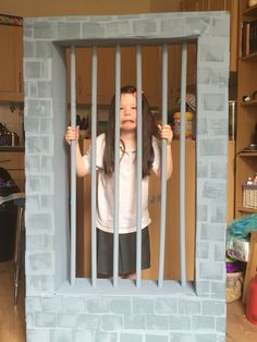 Our diy jail photo booth!!