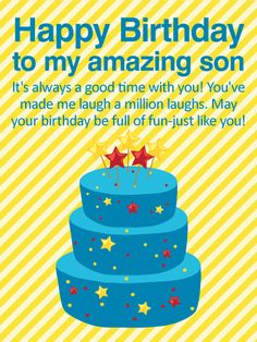 You are my son happy birthday card for son this birthday card is always good time with you happy birthday wishes card for son a birthday full m4hsunfo Image collections