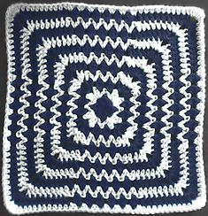 Ravelry: Op-Art Afghan Square pattern by Jennifer Christensen