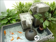 Water Feature ★ Ponds Size X Johor Bahru (JB) Supplier, Supply, Install ★ Ole Ole Water Pond & Deco Pond Design, Small Garden Design, Patio Design, Fountain Design, Ponds Backyard, Backyard Landscaping, Outdoor Fish Ponds, Backyard Ideas, Design Fonte
