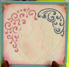 Love this card embroidery!