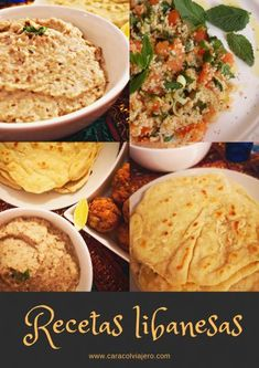 ¿Cómo preparar hummus de berenjena? Baba Ghanush   Caracol Viajero Spinach Dinner Recipes, Tabouli Salad Recipe, Basil Vinaigrette Recipe, Vegetable Muffins, Vegetarian Recipes, Cooking Recipes, Avocado Pasta, Lebanese Recipes, Minis