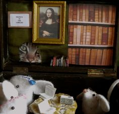 The Mouse Library Bookcase, Home Decor, Decoration Home, Room Decor, Book Shelves, Home Interior Design, Home Decoration, Interior Design, Bookshelves