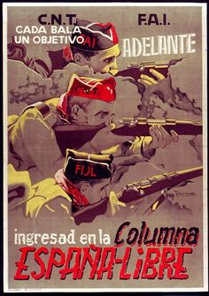 Spain - 1937. - GC - poster - CNT-FAI
