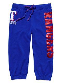 Texas Rangers Crop Varsity Pant