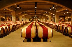 Room with a view: the barrel room at Robert Mondavi Winery in Oakville.  A beautiful winery to visit we just loved it!