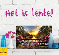 Laat je mooiste lentefoto afdrukken op canvas!