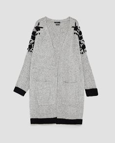 Image 8 of OVERSIZED JACKET WITH EMBROIDERED SHOULDERS from Zara
