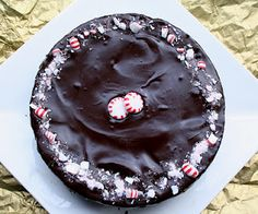 Chocolate Peppermint Crunch Cake - LOW CARB and GLUTEN FREE