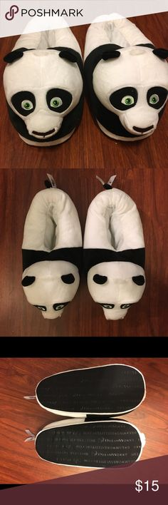 Kung Fu Panda Slippers Never worn! These are super soft Dreamworks branded slippers for adults. Shoes Slippers