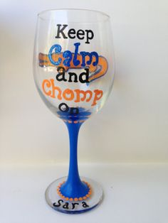 Gator wine glass! @Holly Hanshew Whetsell @Sabina Whidden