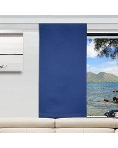 H/öhe 60 SeGaTeX home fashion Caravan-Fl/ächenvorhang Fresh 30cm breit bleu Fl/ächengardine f/ür Caravan Wohnwagen Wohnmobil 80cm nach Ma/ß