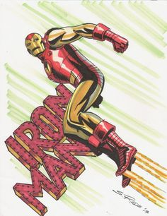 "spaceshiprocket: "" Iron Man by Steve Rude "" Comic Book Artists, Comic Book Heroes, Comic Artist, Comic Books Art, Marvel E Dc, Marvel Heroes, Marvel Universe, Avengers Comics, Bruce Timm"