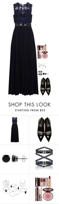 """Untitled #427"" by h1234l on Polyvore featuring self-portrait, Yves Saint Laurent, BERRICLE, Eva Fehren and Charlotte Tilbury"
