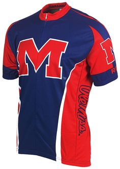 Ole Miss Running Rebels Cycling Jersey Free Shipping - see it at http://www.cyclegarb.com/cocyje.html