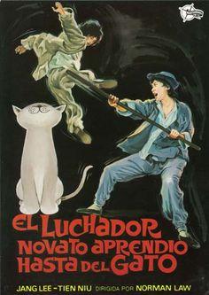 """El luchador novato aprendió hasta del gato (1980) """"She mao he hun xing quan"""" de Lung Hsiao - tt0081497"""