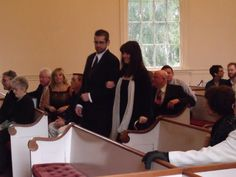 Me, escorted to my seat by Matt at my daughters wedding Jan 2010