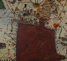 John Olsen, Australia (b.1928) • El Dolor I 1987 • Oil on canvas • Donated by the Bank of Melbourne • 1997.013 #JohnOlsen #AustralianArt #OilPainting Australian Painting, Australian Art, Olsen, Asian Art, Metal Working, Oil On Canvas, Melbourne, Contemporary Art, Paintings
