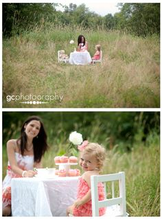 awesome child photoshoot idea (great set of shots - toddler tea party)