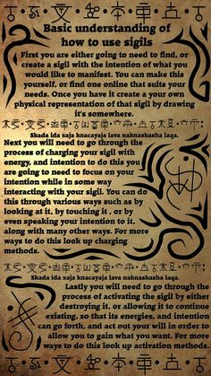 understanding witchcraft esoteric alchemy unknown sigils magick source basic pagan how use of to Basic Understanding of How to Use Sigils source unknownYou can find Sigils witchcraft and more on our website Witch Spell Book, Witchcraft Spell Books, Magick Spells, Pagan Witchcraft, Summoning Spells, Spells For Beginners, Witchcraft For Beginners, Tarot, Grimoire Book