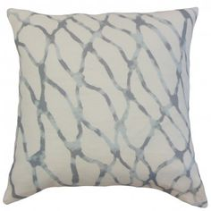 Kick your home's style up a notch with this graphic throw pillow. This accent piece comes in with a graphic detail in shades of blue and grey on a white solid background. Pair this up with the same design but with a different color. Place this anywhere inside your living space where it needs extra comfort. Made of 100% high-quality linen material. Crafted in the USA. $55.00 #pillows #homedecor #tosspillow #graphic #graphicpillow