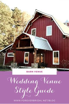 """Are you a country girl? A rustic wedding that takes place at a barn could be perfect for you! Barn weddings can be anything from casual to chic, it's all about the decor. Weddings that take place at barns tend to have accents of burlap with pale earth color accents such as sage, lavender, champagne, dusty blue or gray and yellow. Grab your cowgirl boots and in the words of Luke Bryan, """"Kick the Dust up."""""""