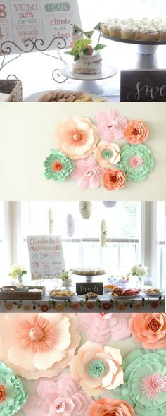 Floral First Birthday Party Decor Cake Food: http://twelveandsix.com/floral-first-birthday-party/