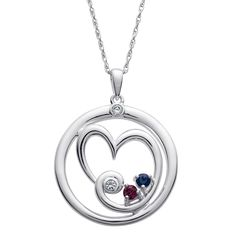 LASTING EXPRESSIONS by Deborah Birdoes Sterling Silver Mother's Heart Two…