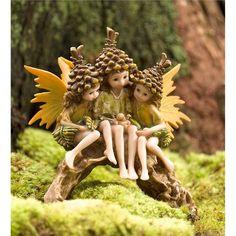 Miniature Fairy Garden Pine Cone Pixies Arch | Miniature Fairy Gardens
