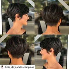Today we have the most stylish 86 Cute Short Pixie Haircuts. We claim that you have never seen such elegant and eye-catching short hairstyles before. Pixie haircut, of course, offers a lot of options for the hair of the ladies'… Continue Reading → Short Curly Hairstyles For Women, Short Pixie Haircuts, Short Hair Cuts For Women, Curly Hair Styles, Pixie To Bob, Prom Hairstyles, Short Brunette Hairstyles, Short Pixie Hairstyles, Brunette Pixie